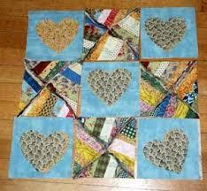8 best rag quilt images on Pinterest | Rag quilt patterns, Country ... & Make String Pieced Rag Quilt Blocks: Rag Quilt Block with Optional Heart  Applique Adamdwight.com