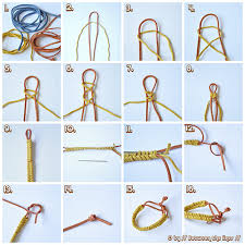 Braided Bracelet Patterns Beauteous Because She Started Knitting Link Braided Bracelet Tutorial