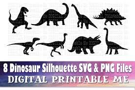 Dinosaur Silhouette Bundle Graphic By Digitalprintableme Creative Fabrica