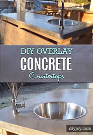 diy kitchen makeover ideas diy overlay concrete countertops projects projects you can make