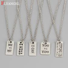 custom letter me you i can i will neck accessories fitness pendant inspirational athlete necklace men women chain gift jewelry