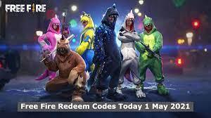Free Fire Redeem Codes Today 1 May 2021,Garena FF Reward Full List  Released, How to Redeem Free Fire Reward Code in reward.ff.garena.com? »  Indian News Live