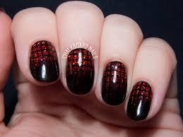 Garnet Glittering Gradient Grid Gels | Chalkboard Nails | Nail Art ...