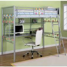 Loft Bed Bedroom Bedroom Oak Wood Loft Bed With Desk And Stair In Navy Blue Kids