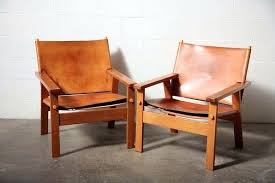 wood and leather chair. Wood And Leather Chair Barge Style Raw Easy Arm Chairs Throughout Decorations