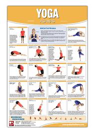 Yoga Pose Chart Poster Yoga Asana Poster Chart Laminated Yoga Poster Yoga Chart
