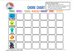 Printable Practice Charts Image Result For Karate Practice Chart Chore Chart For