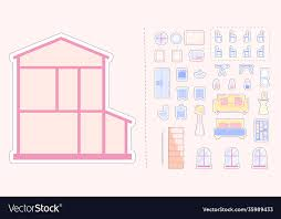 doll house plans vector images 26