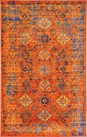 pink and orange rug amazing orange and blue area rug rugs decoration with regard to orange