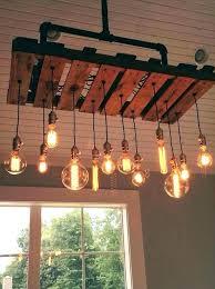 wood bathroom light fixtures reclaimed beam mason jar chandelier