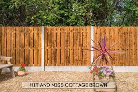 garden fencing dublin hit miss cottage brown