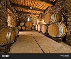 Oak Wine Barrels Image Photo Bigstock