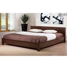 Stunning King Size Platform Bed With Headboard Alsa Deep Brown King
