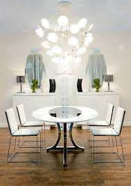 View In Gallery Modern Art Deco Dining Room With Round Table And White  Chairs N