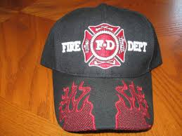 Image result for fire dept flame HAT CAPS
