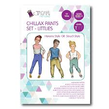 Pants Patterns Cool Chillax Pants Pattern Set LITTLIES Tadah Patterns Sewing