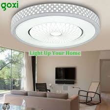 goxi modern led acrylic ceiling light chandelier pendant lamp flush mount 1200lm