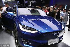 a tesla model x sits on display at the 2018 beijing international auto show in beijing on may 1 2018 photo vcg