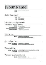 Resume Sample Download In Word Word Resume Formats Resume Format Download In Ms Word Download My