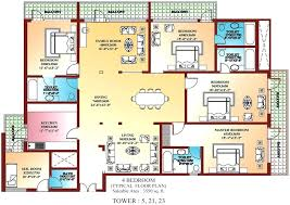 fresh gallery of 4 bedroom apartment floor plans pdf