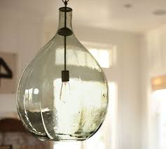 clift oversized glass pendant pottery barn seeded glass pendant lights
