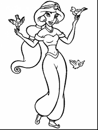Fresh Disney Princess Coloring Pages Jasmine Collection Printable