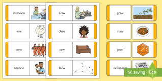 Choose the word that has a particular sound. Matching Ew Sound Word And Picture Cards Teacher Made