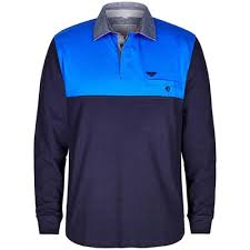 long sleeve colour block rugby