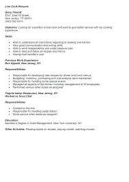 Line Cook Sample Resume Line Cook Resume Samples Example Job Inspiration Cook Job Description Resume