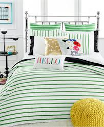 kate spade new york harbour stripe picnic green twin duvet cover set