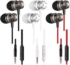 <b>Earphones</b> 3 Pack <b>in-Ear Headphones</b> with Microphone,<b>3.5 mm</b>