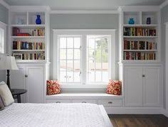 Window Seat Surrounded By Bookshelves   This Would Work Perfect When We  Convert The Garage Into