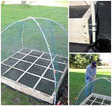 recycled pvc pipe raised garden bed cover