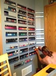 nail polish wall display rack photo 3 of 6 i love this idea very diy