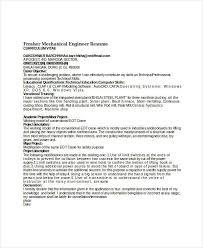Fresher Mechanical Engineer Resume Template