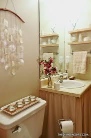 apartment budget bathroom makeover asian decor batik pink fuchsia double panel shower curtain linen vanity sink