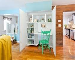 eclectic home office. Hidden Desk Ideas Design For An Eclectic Home Office In New With A  Built