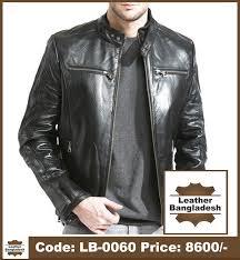 super smart look black color pure leather jacket
