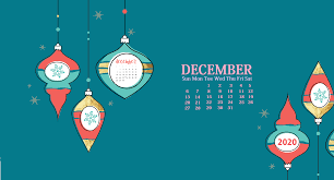 December 2020 Desktop Calendar ...