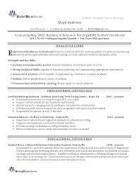 Nurse Resume Skills Beautiful Graduate Nurse Resume Skills Also Sample Resume For 19