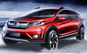 honda new car releaseNew Honda BRV sketches released India launch in 2016  New
