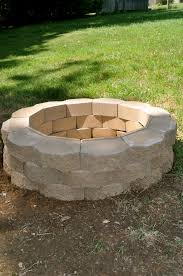 awesome bricks for outdoor fire pit how to build a back yard diy fire pit it s easy