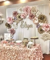 Paper Flower Decor Paper Flowers Paper Flower Backdrop Wedding Decor Retirement