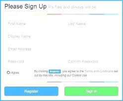 Sign Up Form Html Template Register Form Template