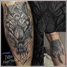 волк перекрытие старой татуировки Wolf Cover Up Old Tattoo мои