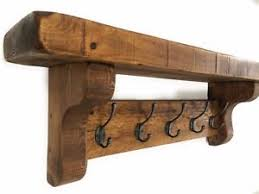 Coat Hook Rack Extra Large Chunky Vintage Style Coat Hook Rack With Shelf Wood Cast 34
