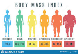 Underweight Normal Overweight Chart Female Body Mass Index Normal Weight Obesity And Overweight