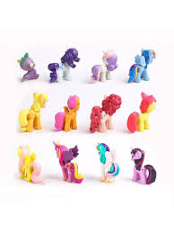Buy <b>12Pcs</b>/Set <b>Cute</b> Pvc Pony Rainbow Cake Toy Mobile Phone ...