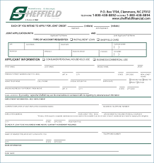 Consumer Credit Application Form Template | Sunposition.org