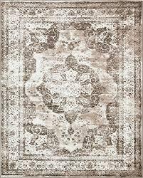 traditional persian vintage design rug light brown rug 8 x 10 ft 305cm